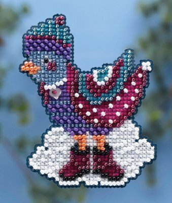 Winter Bird - Beaded Cross Stitch Kit