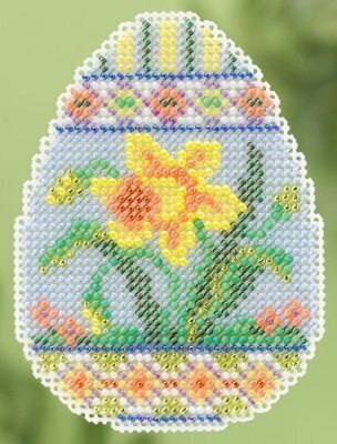 Daffodil Egg - Beaded Cross Stitch Kit