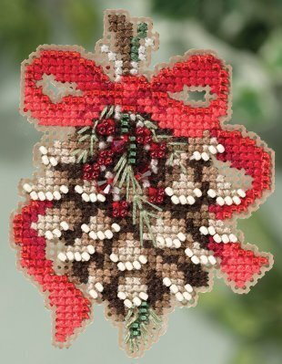 Pinecone - Beaded Cross Stitch Kit