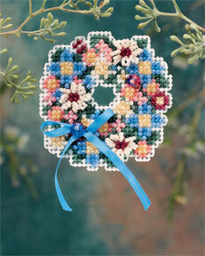 Spring Wreath - Beaded Cross Stitch Kit