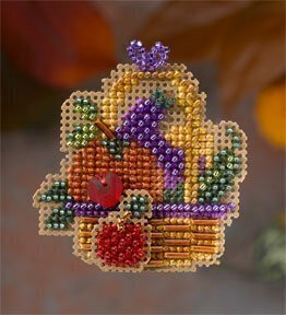 Autumn Bounty - Beaded Cross Stitch Kit