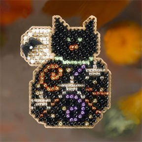 Magic Kitty - Beaded Cross Stitch Kit