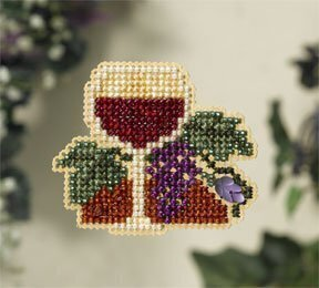 Wine Glass - Beaded Cross Stitch Kit