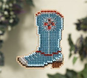 Western Boot - Beaded Cross Stitch Kit