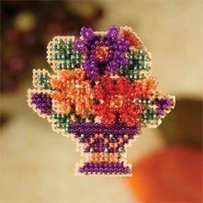 Mum Bouquet - Beaded Cross Stitch Kit