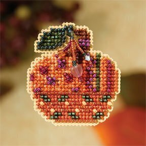 Jeweled Pumpkin - Beaded Cross Stitch Kit