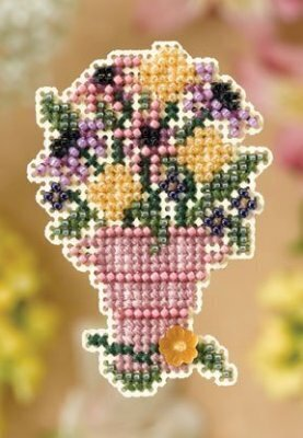 Cut Flowers - Beaded Cross Stitch Kit