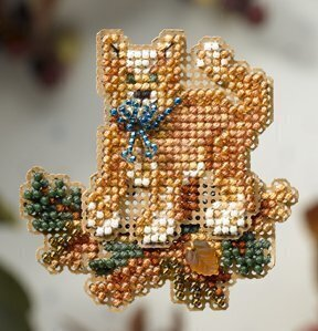 Tabby Cat - Beaded Cross Stitch Kit