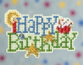 Happy Birthday - Beaded Cross Stitch Kit