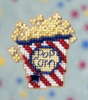 Popcorn - Beaded Cross Stitch Kit
