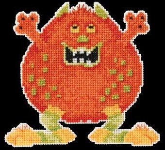 Roly Poly Little Monsters - Beaded Cross Stitch Kit