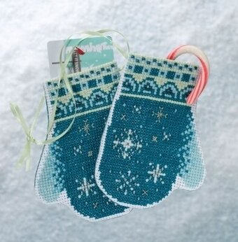 Snowflake Mittens - Beaded Cross Stitch Kit