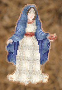 Mary (Nativity Trilogy) - Beaded Cross Stitch Kit