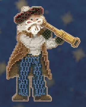 First Mate Santa - Beaded Cross Stitch Kit
