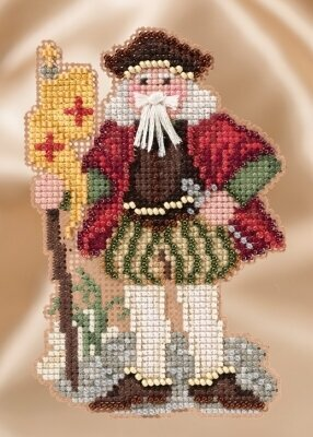 Genoa Santa - Renaissance Santas - Beaded Cross Stitch