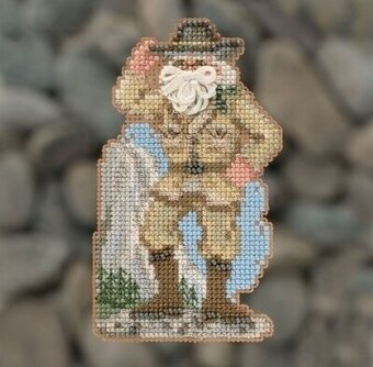 Yosemite Santa - Beaded Cross Stitch Kit