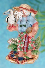 Christmas Island Santa - Beaded Cross Stitch Kit