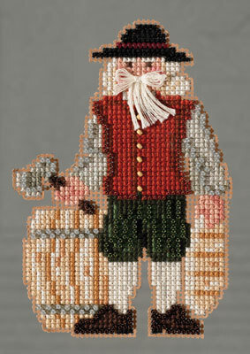 Plymouth Santa - Colonial Santas - Beaded Cross Stitch Kit