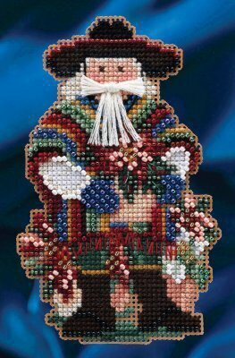 Feliz Navidad Santa - Beaded Cross Stitch Kit