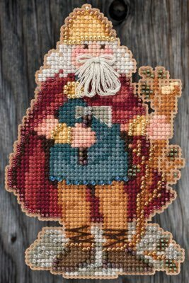 Celtic Wales Santa (2015) - Beaded Cross Stitch Kit