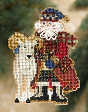 Teton Santa - Rocky Mountain Santas Beaded Cross Stitch Kit