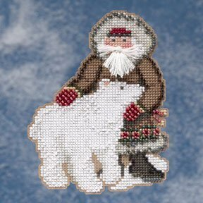 polar santa cross stitch