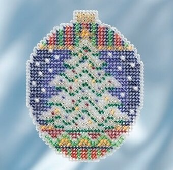 Icy Evergreen - Beaded Cross Stitch Kit