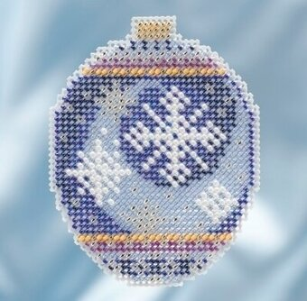 Midnight Snowfall - Beaded Cross Stitch Kit