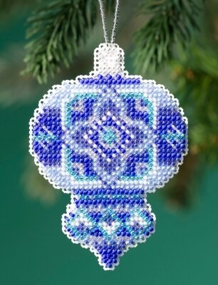 Azure Medallion - Beaded Cross Stitch Kit