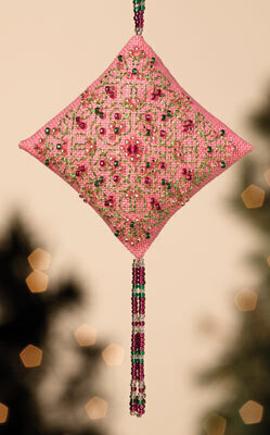 Pink Champagne - Beaded Cross Stitch Kit