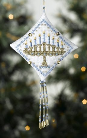 Menorah - Beaded Cross Stitch Kit