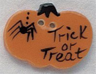 Trick or Treat Pumpkin Button
