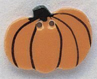 Harvest Pumpkin Button