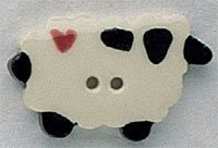 Sheep With Heart Button