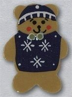 Teddy Bear with Sweater Button