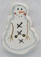 Frosty Snowman Button