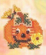 Pumpkin Smile - Beaded Cross Stitch Kit