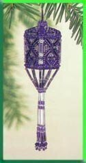 Orchid Tassel Ornament Cross Stitch Kit