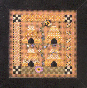 Bee Square - Beaded Cross Stitch Kit