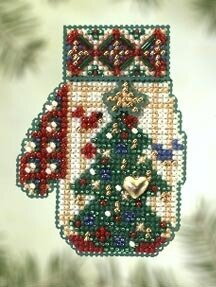 Star Topped Tree - Beaded Cross Stitch Kit