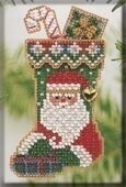 St. Nick Stocking - Beaded Cross Stitch Kit