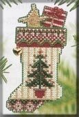 Evergreen Stocking - Beaded Cross Stitch Kit
