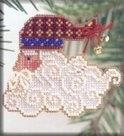 Santa Jingles - Beaded Cross Stitch Kit