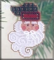 Joyful Santa - Beaded Cross Stitch Kit