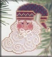 Charming Santa - Beaded Cross Stitch Kit