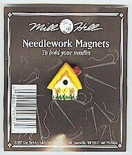 Sunflower Birdhouse Needle Magnet