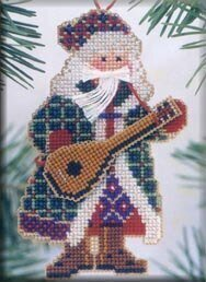 Mandolin Santa - Beaded Cross Stitch Kit
