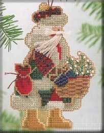 Mt Rainier Santa - Beaded Cross Stitch Kit