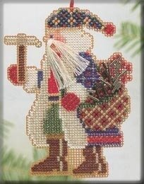 Mt Whitney Santa - Beaded Cross Stitch Kit