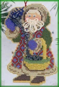 Northern Lights Santa - Beaded Cross Stitch Kit